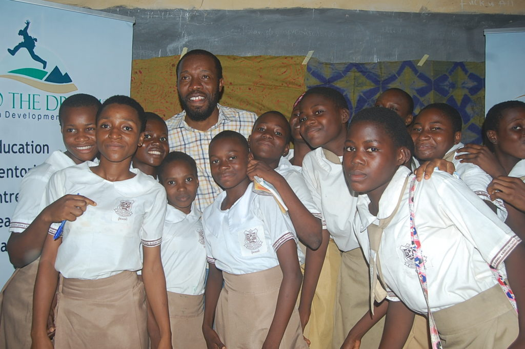 Abiodun Folawiyo after his session at Community Senior School,Ojodu Abiodun