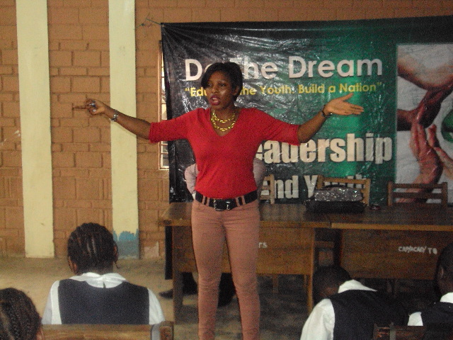Tinu Shaiye at DoTheDream Leadership Seminar at Captain College Ojodu