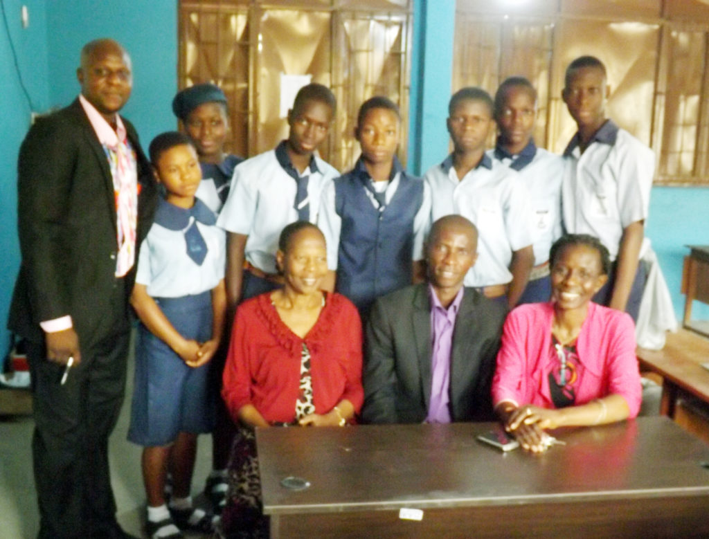 Donation of 2 tables and 2 tables to Lanre Awolokun Senior School,Gbagada