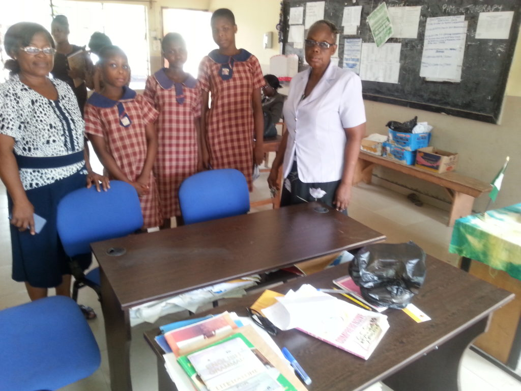 Donation of Tables and Chairs to Eva Junior Girls