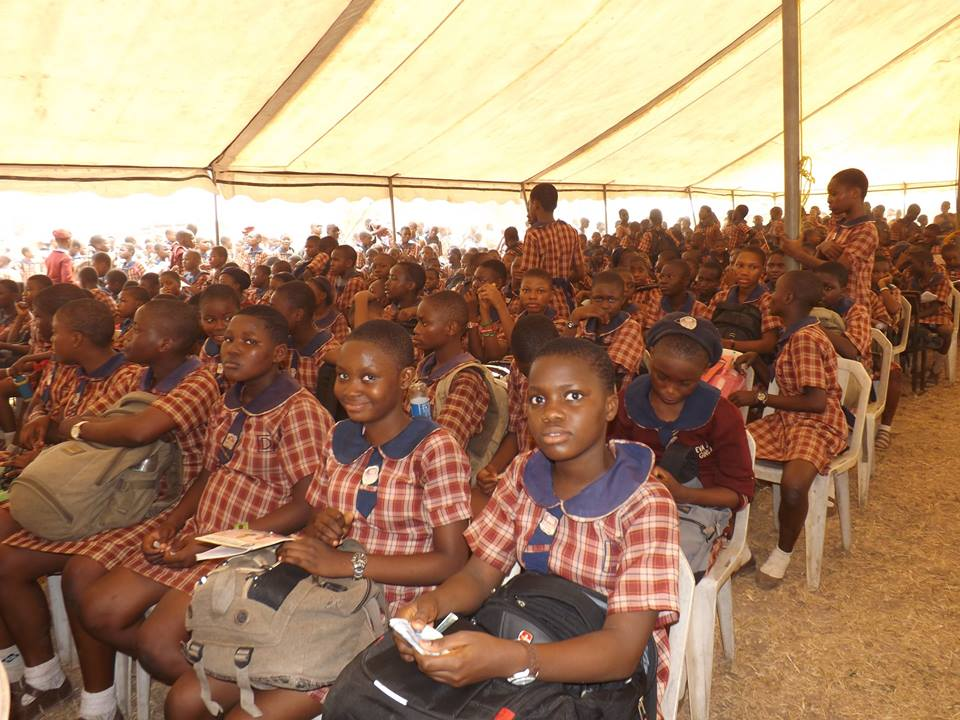 Delegates at DoTheDream Leadership Seminar at Eva Junior Girls Shomolu