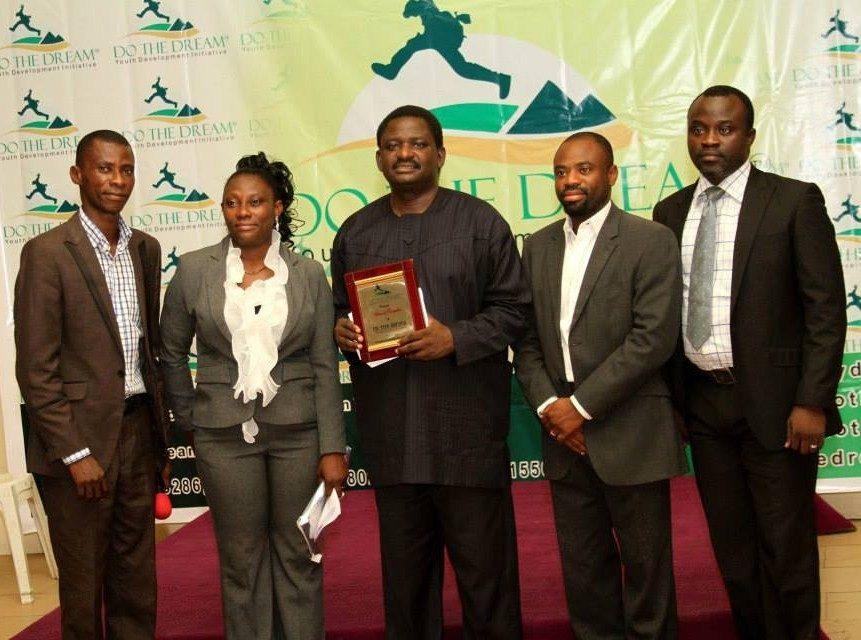 L-R Olutayo Olumadewa,Badejoko Fabamise Osunmade,Femi Adesina,Bisi Salau,Peter Oshinoiki at 6th Annual DoTheDream SUmmit