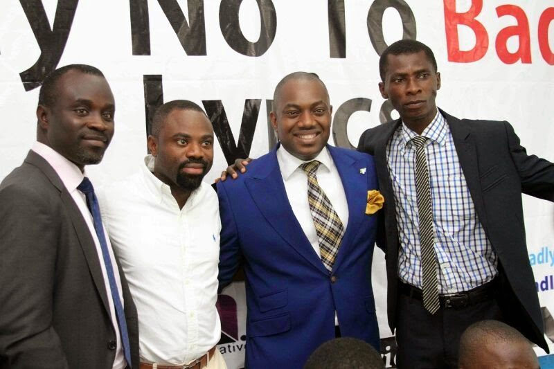 L-R Peter Oshinoiki,Bisi Salau,Fela Durotoye,Olutayo Olumadewa at Unveiling of Say No To Bad Lyrics Campaign at United Nations Information Centre,Lagos
