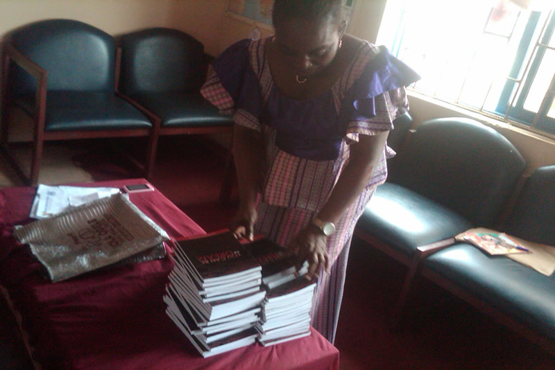 Donation of You Can Be The Dream Book to Oregun Junior School