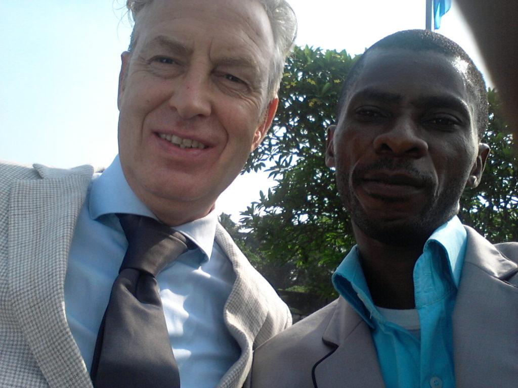 Tacl Westerhuis with Olutayo Olumadewa