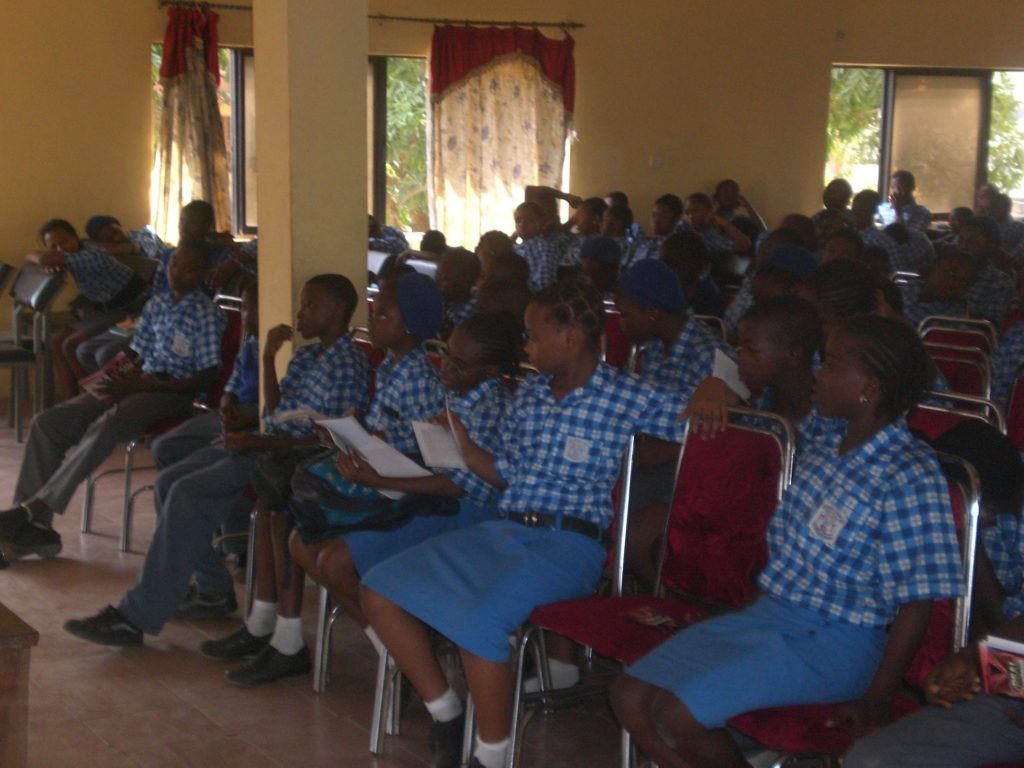 Donation of 600 copies of REAL INVESTMENT to Victory Grammar School