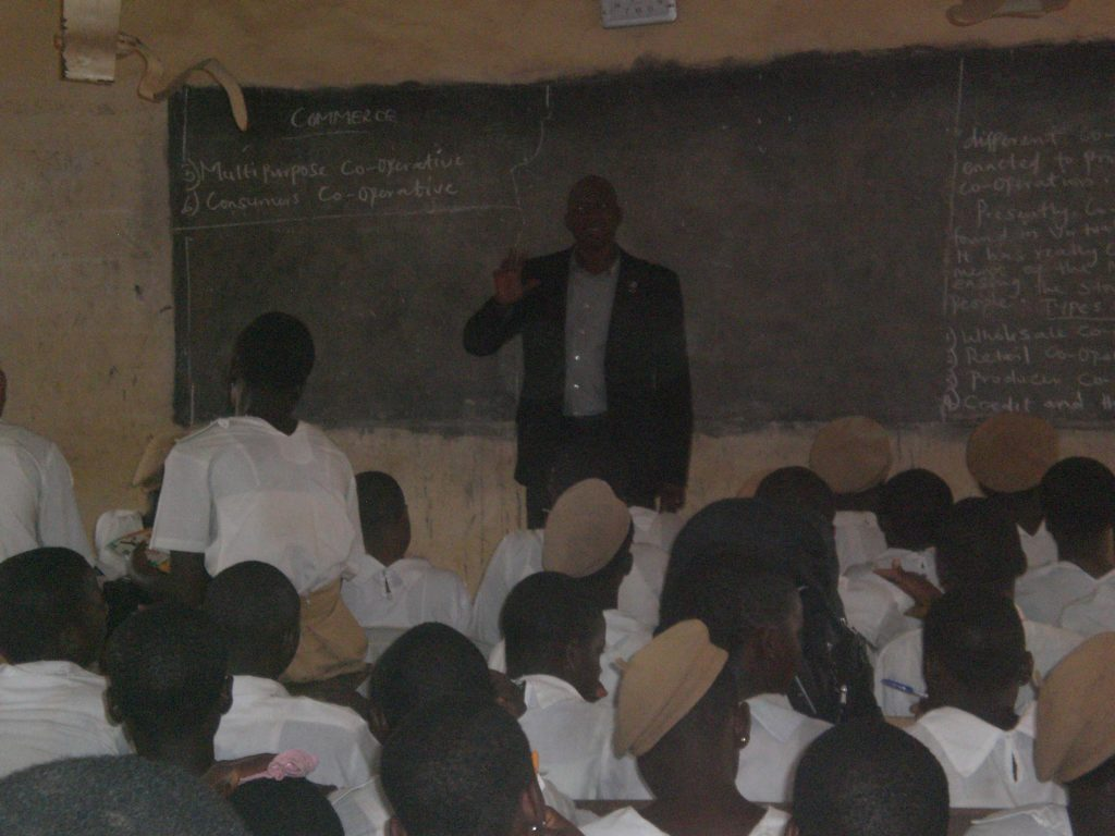 Ayo Adeyemi teaching