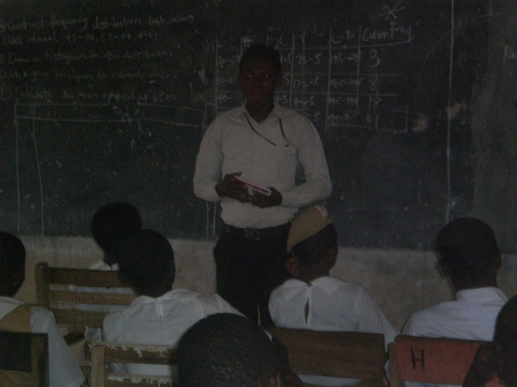 Promise Uzozie teaching