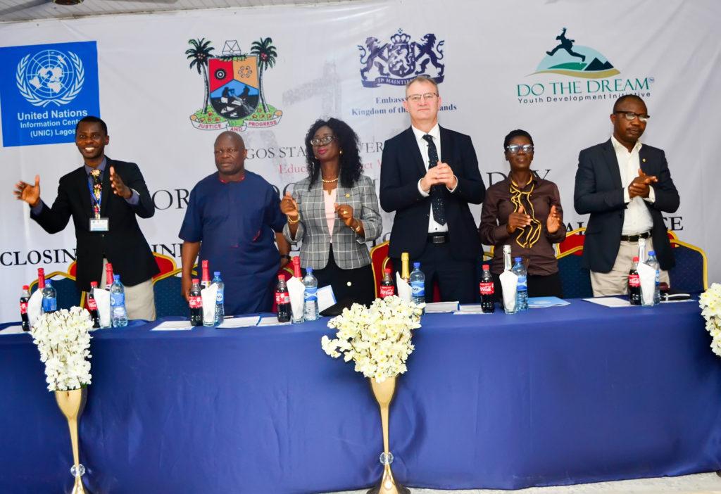 L-R Adebusuyi Olumadewa,Mr Erinle,Mrs Okelola,Jan Van Weijen,Mrs Adedeji